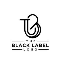 Monogram logo vector