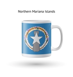 Northern Mariana Islands flag souvenir mug on vector