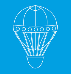 old fashioned helium balloon icon outline style vector image vector image