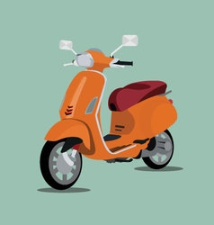 Orange scooter 3d vector