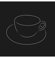 Outline of cup vector