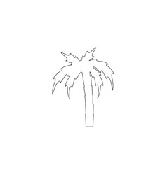 palm flat icon vector image