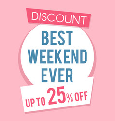 pink discount sale banner template flat vector image