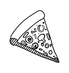 Pizza slice icon image vector