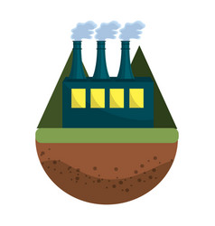 pollution factory contaminating the environment of vector image
