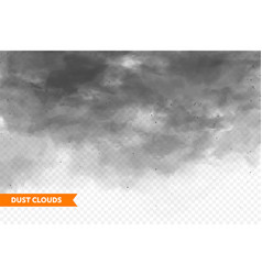 Realistic dust clouds sand storm polluted dirty vector