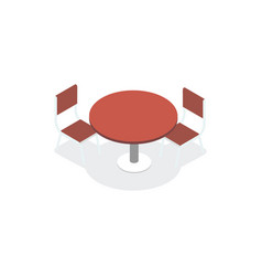 red table and chairs vector image
