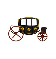 Retro carriage wagon for traveling antique vector