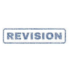 revision textile stamp vector image