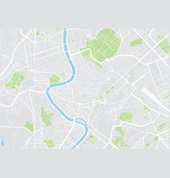 rome colored map vector image
