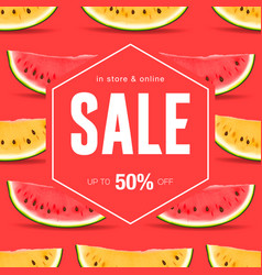 sale discount social media poster vector image