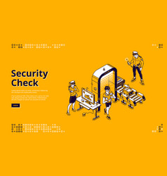 security check isolated landing airport control vector image