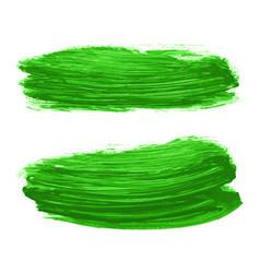 Set greenery watercolor texture backgrounds vector