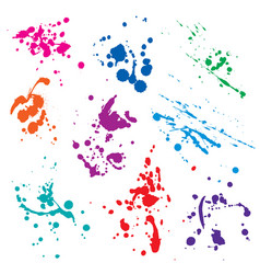 Set of blots vector