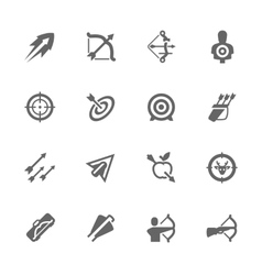 Simple bows and arrows icons vector