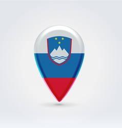 Slovenian icon point for map vector image