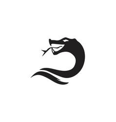 snake icon design vector image
