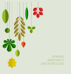 spring abstract floral background with place for vector image