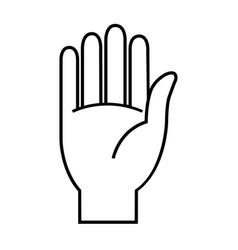 stop line hand icon flat symbol vector image