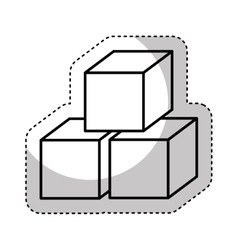 Sugar cubes isolated icon vector
