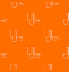 Tonometer pattern orange vector