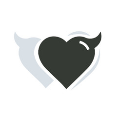 twins heart of devil love vector image