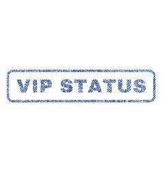 Vip status textile stamp vector