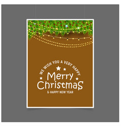 we wish you a very happy merry christmas and vector image