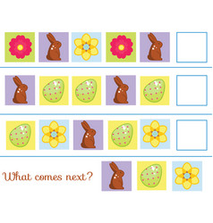 What comes next educational children game kids vector