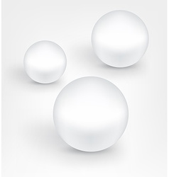 White pearl balls vector image