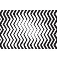 zigzag wave striped engraving halftone background vector image