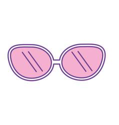 Cute sunglasses fashion style design vector
