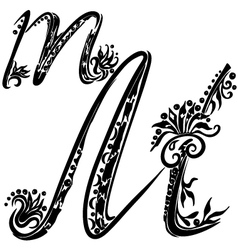 letter M m vector image vector image