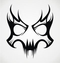 Skull Mask Tattoo Design vector image vector image