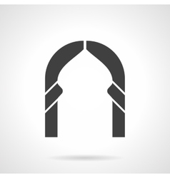 Abstract lancet arch glyph style icon vector image