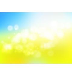 Bokeh blur romantic blue yellow backdrop for eco vector image