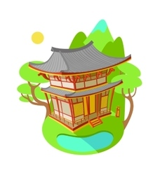 Bright flat Asian traditional vector image vector image