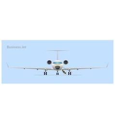 Business jet vector image