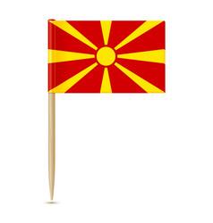 flag of macedonia flag toothpick 10eps vector image vector image
