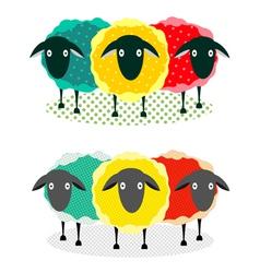 Three Sheep vector image