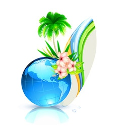 world summer vector image vector image