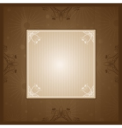 brown background with decorative ornaments vector image vector image