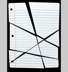 cut torn up ruled notebook vector image vector image