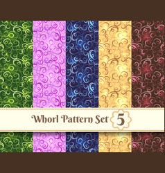 whorl pattern set vector image vector image