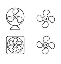 Fan icon set vector