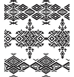 Tribal black and white seamless pattern vector image vector image