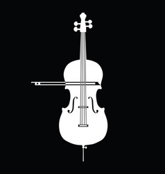 white contrabass collection on black background vector image