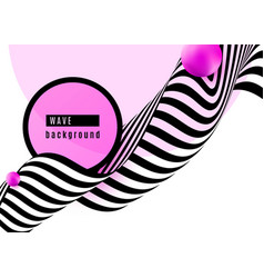 abstract background design with stripe wave black vector image
