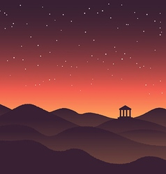 Abstract background landscape sunset silhouette vector image vector image