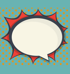 abstract blank speech bubble comic book pop art vector image